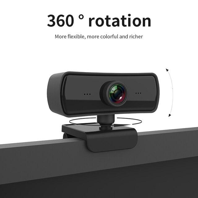 Webcam 2k 2040*1080p hd, câmera de computador e pc com microfone, câmeras rotativas para chamadas de vídeo em transmissão ao vivo trabalho de conferência 4