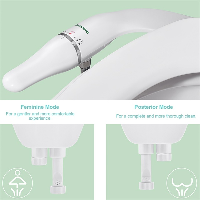 Bidet Attachment Ultra-Slim Toilet Seat Attachment With Brass Inlet Adjustable Water Pressure Self-cleaning Ass sprayer 5