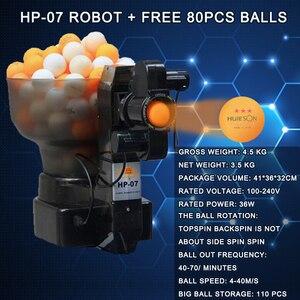 Image 2 - מקצועי טניס שולחן רובוט פינג פונג מכונת נייד חסכוני משולבת רובוטים (משלוח 80pcs כדורי מהיר חינם)