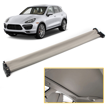 Car Sunroof Sun Shade Roof Sunshade Cover Assembly For Porsche Cayenne 2011 2012 2013 2014 2015 2016 2017 Beige