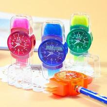 Pencil Sharpener School-Supplies Office for Kids Gifts Erasers-Brush Watches Three-In-One