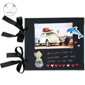 Image 5 - Angwingルーズリーフ/結婚式の写真アルバムスクラップブック20ページ空白/diyアルバム写真カバー自己粘着スクラップブックアルバムケースバインディング