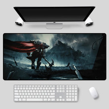 XGZ Large-size gaming mouse pad, beautiful LOL series, cool pattern keyboard high-speed non-slip durable table mat
