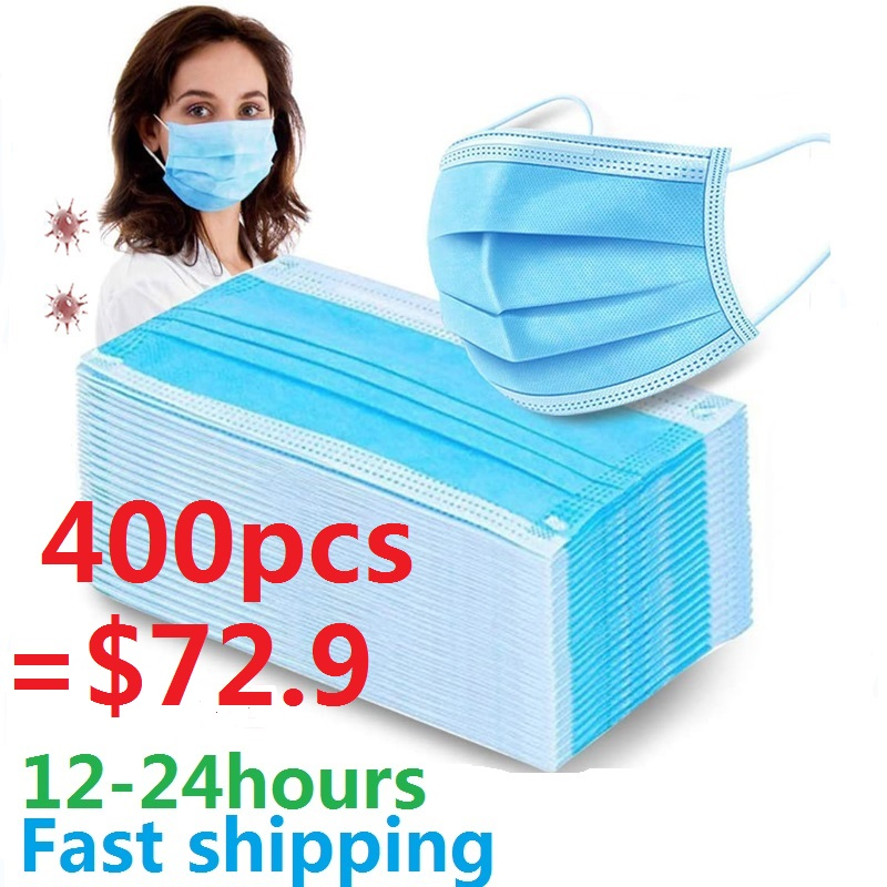 In Stock Disposable Protect 3 Layers Filter Dustproof Earloop Non Woven Protective Masks Anti Women Face Mouth Mask For Men