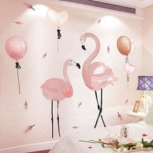 Розовый фламинго на стену для домашнего декора анималистический