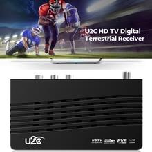 USB2.0 DVB موالف التلفزيون واي فاي DVB استقبال كامل HD 1080P الرقمية مربع التلفزيون الذكية دعم MPEG H.264 المدمج في دليل الروسية