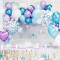 Эльзы и принцессы Анны из мультфильма «Холодное сердце» вечерние украшения Рождественские снежинки воздушный шарик из фольги в форме детс...