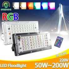 Светодиодный прожектор светильник 10 Вт, 50 Вт, ручная сборка идеальный мощность прожектора светильник светодиодный уличный фонарь 220V 240 Вт водостойкый LED ландшафтный светильник ing IP65 Светодиодный точечный светильник