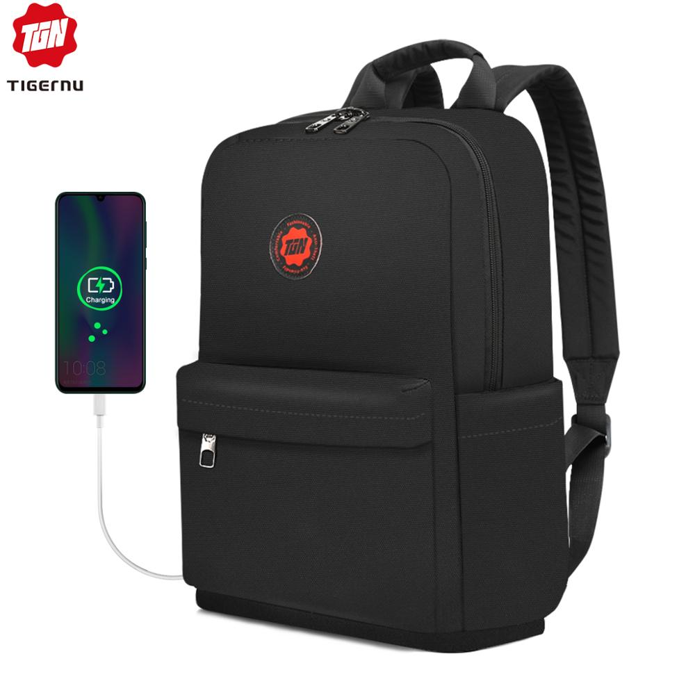 Tigernu 2020 New Casual Women Water Resistant Light Weight 15 Inch Backpacks Men Travel Schoolbags Fashion College For Teenagers