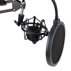Image 4 - Top NB 35 Microphone Scissor Arm Stand and Table Mounting Clamp&NW Filter Windscreen Shield & Metal Mount Kit