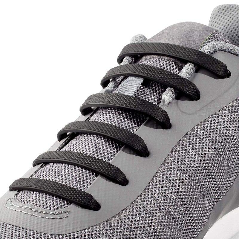16 Pcs Silicone Shoelaces Elastic Shoe Laces No Tie Convenient And Fast Unisex Lazy Laces Outdoor Sports Leisure Flat Shoelace