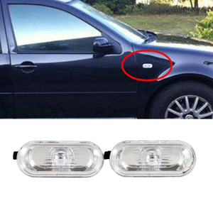 A Pair Turn Signal LED Side Marker Lamp Light fits for 2000-2004 Golf /Jetta/ Bora MK4 Car Led Lights With Clear Lens