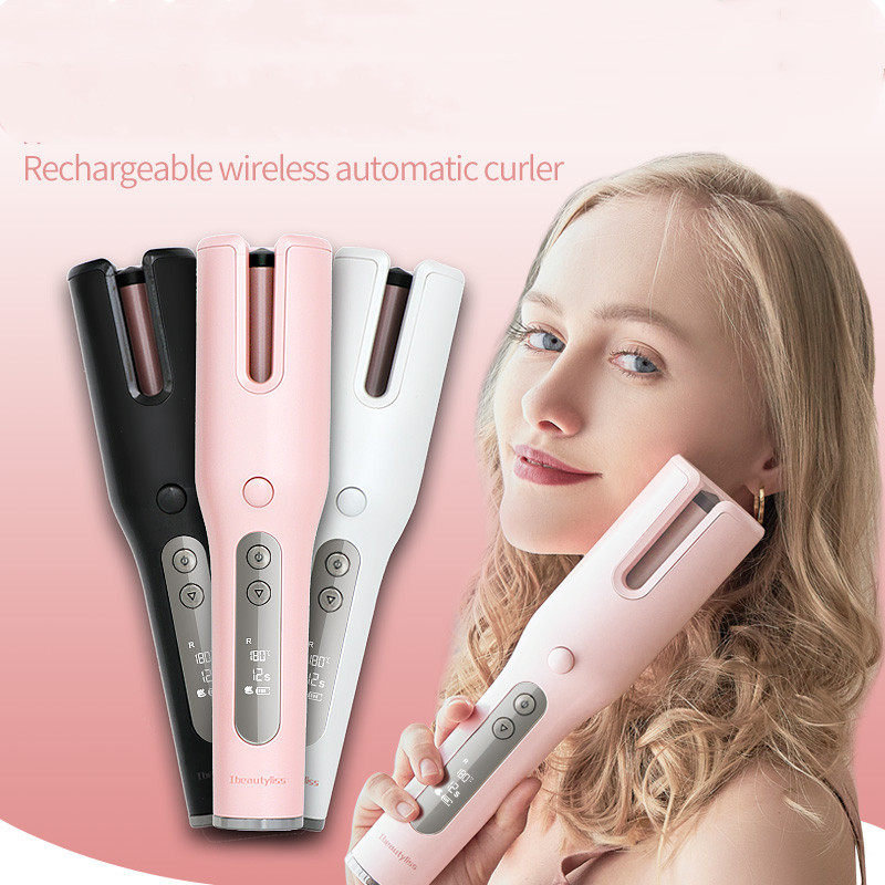 Wireless Automatic Curler Magic Curler Wireless Curling Iron LCD Screen Ceramic Heating Anti-scalding Wave Curler Hair Curler