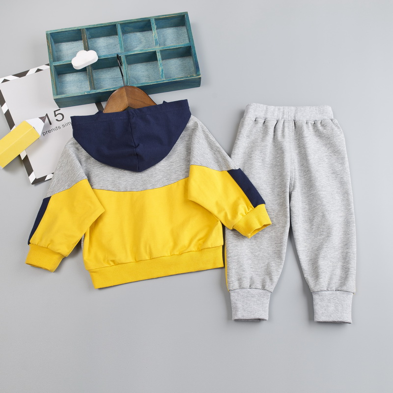 Image 3 - Kid Boy Clothes Set For Girl Casual Sportswear 2019 Fashion Patchwork Baby Boy T Shirt + Pants 1 2 3 4Y-in Clothing Sets from Mother & Kids
