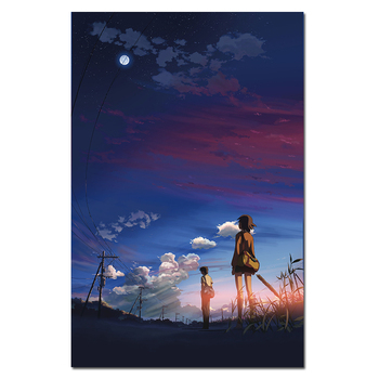 Wall Art Canvas Painting Manga Film Poster Anime 5 Centimeters per Second Movie Poster Picture Modern Home Decor image