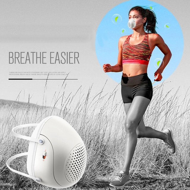 Half Face Smart Electric Masks Anti-Bacterial Haze Flu Dust-Proof Breathable,N95 Level Protective Masks 5