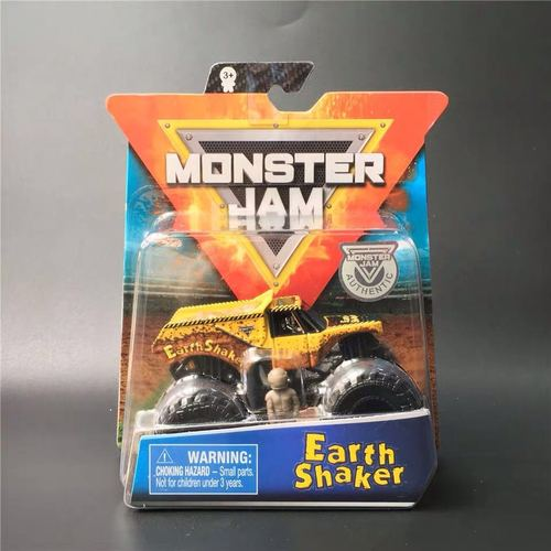 1: 64 оригинальные горячие колеса гигантские колеса Crazy Barbarism Монстр металлическая модель грузовика игрушки Hotwheels большая ножная машина детский подарок на день рождения - Цвет: Earth Shaker