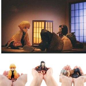 Image 5 - アニメ悪魔特効フィギュアkimetsuなしyaibaアクションフィギュアtanjirou figur nezuko pvc模型玩具agatsuma zenitsu inosuke人形ギフト