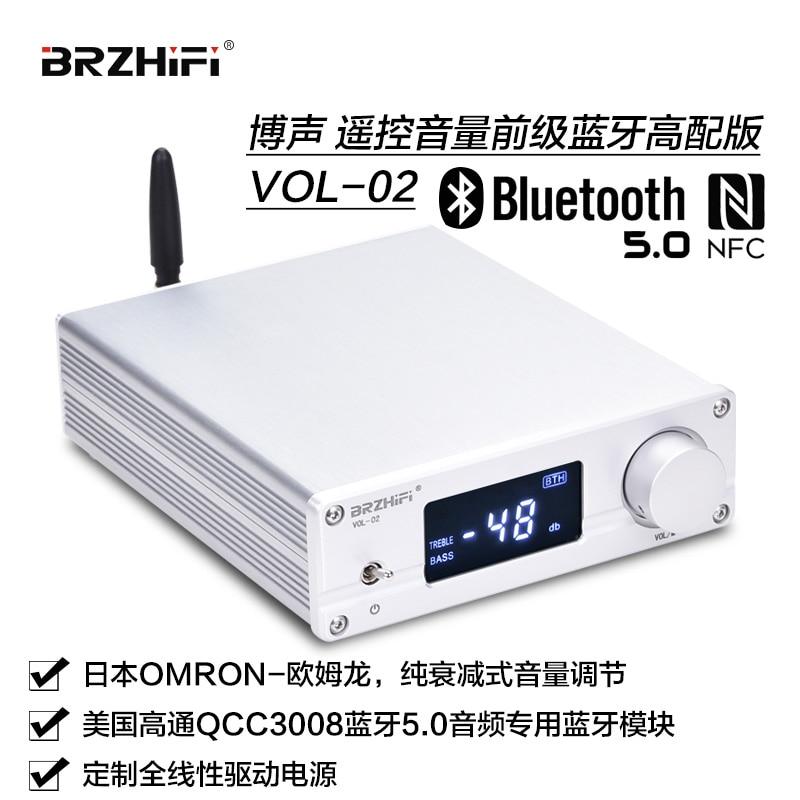 BRZHIFI AUDIO VOL-02 Remote Control Volume Preamplifier Bluetooth 5.0