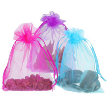 100pcs Organza Candy Gift Bags Wedding Jewelry Packaging Bag Drawstring Storage Bags Pouches Birthday Favors Party Decor 7x9cm