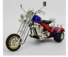 1:16 three-wheel plastic motorcycle model,simulation light music toy car,collection of gifts,free shipping(China)