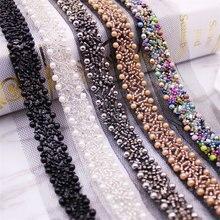 1 jardas/lote frisado laço fita fita do laço tecido de renda guarnição bordado colar decoração renda net cabo para costura africano tecido de renda