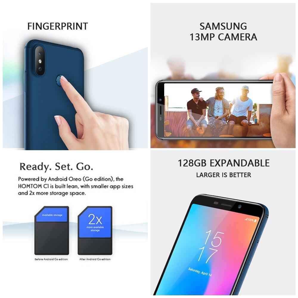 Version mondiale HOMTOM C2 Android 8.1 2GB + 16GB téléphone portable Face ID MTK6739 Quad Core 13MP double caméra OTA 4G FDD LTE Smartphone - 3
