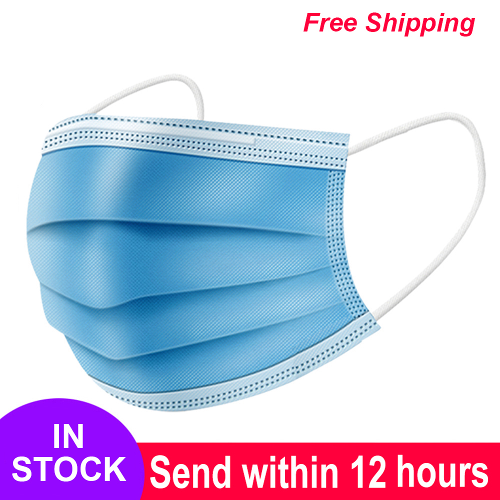 Mask Disposable Non Wove 3 Layer Ply Filter Mask Mouth Face Mask Breathable Earloops Masks mascherin