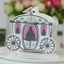 500pcs Fairy Carriage Creative Gift Paper Boxes Carriage Gift box Wedding Candy Box Chocolate Carton Wedding Decoration Supplies 100pcs 2017 five star european style hollow wedding candy box gift paper boxes chocolate carton wedding supplies