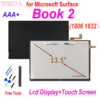 13.5 AAA Quality LCD Replacement for Microsoft Surface Book2 1806 1832 LCD Display Touch Screen Digitizer Assembly Book 2 LCD factory quality ips lcd display 7 85 for supra m847g internal lcd screen monitor panel 1024x768 replacement