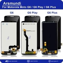 لموتورولا موتو G6 / G6 اللعب/G6 زائد شاشة LCD تعمل باللمس محول الأرقام الجمعية استبدال شاشات الكريستال السائل + هدية