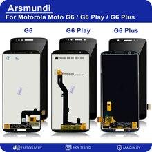 Motorola Moto G6 / G6 oyun/G6 artı LCD ekran dokunmatik ekran Digitizer meclisi yedek LCD + hediye