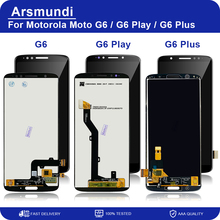 Tela de reposição para motorola, digitalizador para modelos moto g6/g6 play/g6 plus, com display de lcd e digitalizador