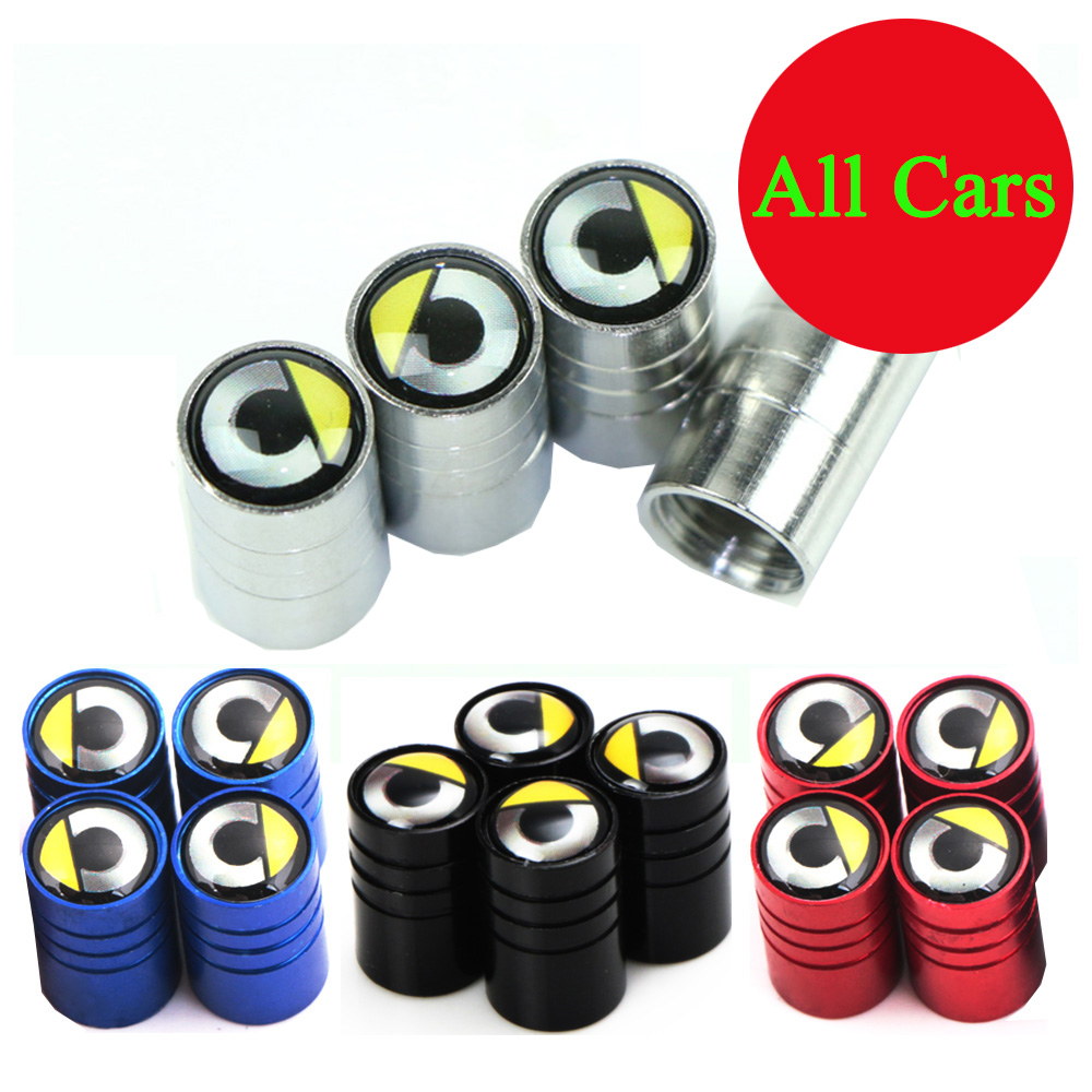 4x Car Wheel Tire Parts Valve Stem Caps Cover For Smart Logo Forspeed Forfour Fortwo With Car Brand Logo Car Accessories Styling