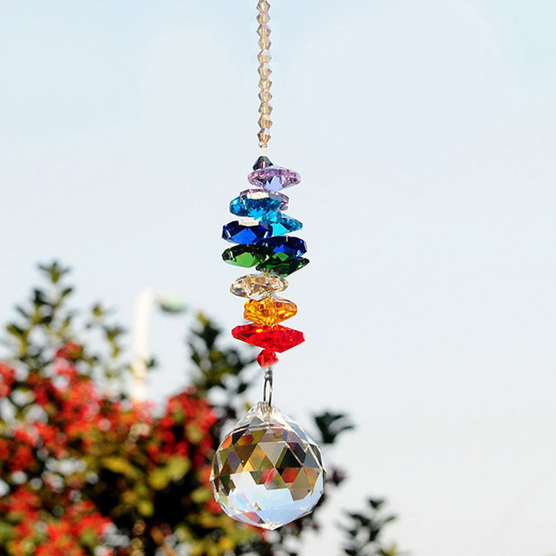 Colorful Jewelry Crystals Pendants &Chandelier Suncatchers Prisms Hanging Ornament Chakra Crystal Pendants for Window Decoration