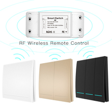 RF433 110V 220V Receiver Smart Home Wireless Remote Control Smart Switch Smart Life Tuya APP Works With Alexa Google Home cheap choifoo All Compatible