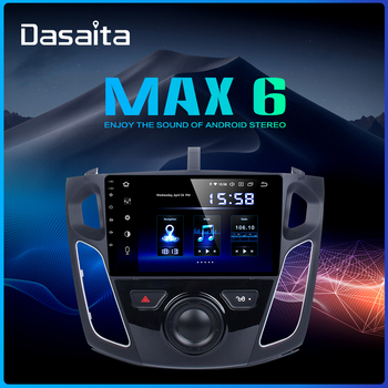 """Dasaita 9"""" IPS Touch Screen 1 din Car Radio Android 9.0 for Ford Focus 2012 2013 2014 2015 GPS Navigation HDMI 1024*600 64GB ROM"""