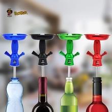 HONEYPUFF Aluminum Hookah Shisha Wine Bottle Top Ho