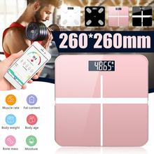 Smart Body Fat Scale Monitor Bathroom Scales Digital Body Weight Machine Measuring Scale bluetooth charging / battery type