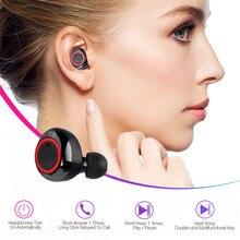 Mic Headset Bluetooth Earphone In-Ear earbuds Handsfree Mini Wireless-Stereo KEBIDU 450mah