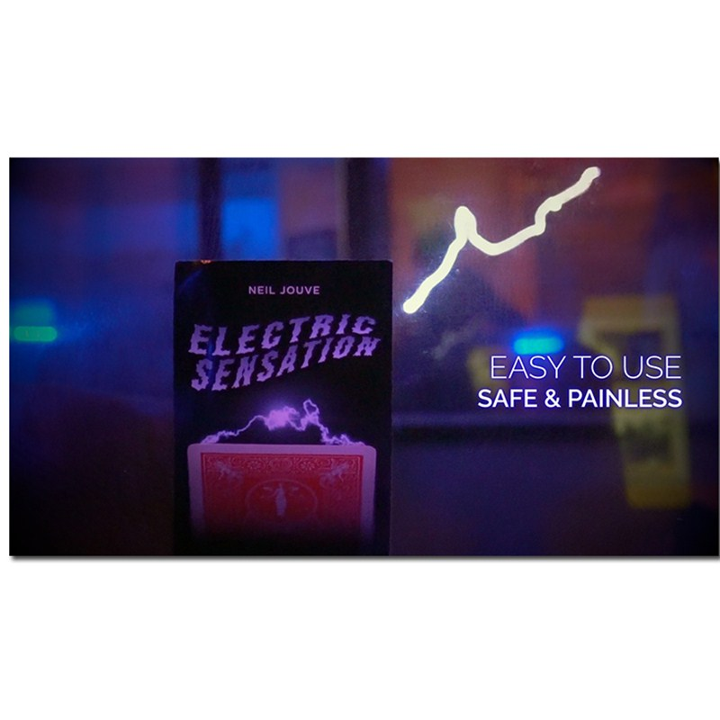 Electric Sensation (Gimmick And Online Instructions) By Neil Jouve Card Magic Tricks Illusion Street Magic Poker Magic Show Fun