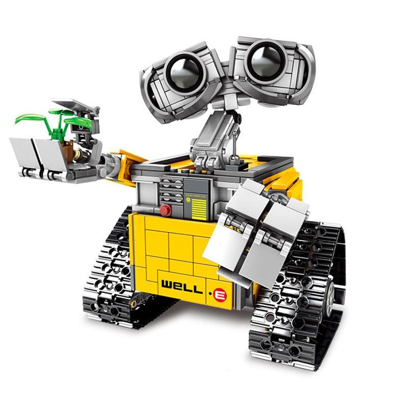 695PCS Building Blocks Creator Serie Idea Robot Blocks WELL E Action Figures Creators Building Blocks Compatible Technic  Toys