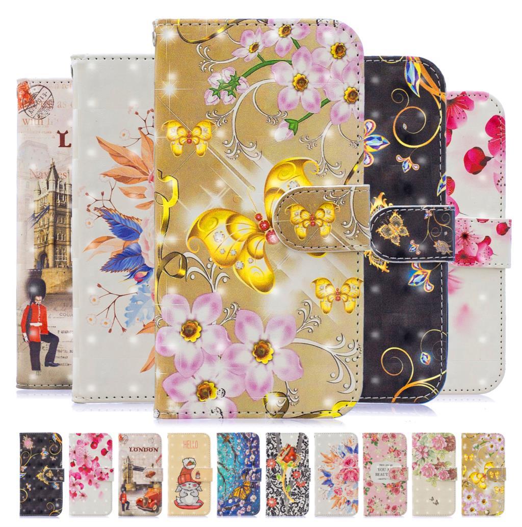3D Printing Leather Flip Case For Samsung Galaxy M20 M 20 GalaxyM20 SM-M205F Wallet Phone Bag For Samsung Galaxy M10 M 10 Cover