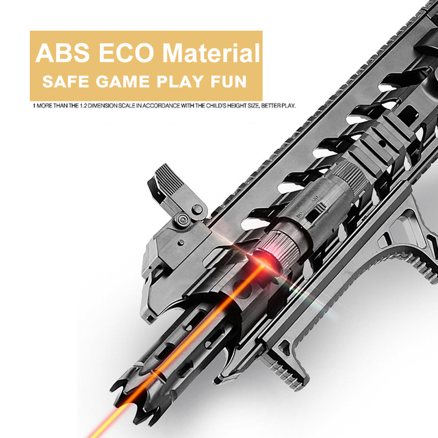 Assault Manual Rifle AR 15 BB Gun Or Water Bullet Single Shoot Assembled Guns s Sniper Arms Weapon  Adult Gift 4
