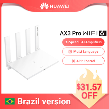 Brazil Version HUAWEI WiFi AX3 Pro Four Amplifiers (AKA AX3 Quad Core) WiFi 6+ Wireless Router WiFi 5 GHz Repeater 3000 Mbps NFC 1
