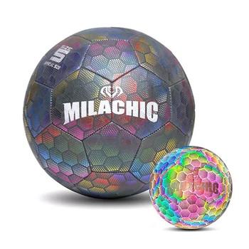 Odblaskowa piłka do piłki nożnej rozmiar 4 5 świecące piłka nożna dorosłe dziecko konkurs treningowy Luminous piłka nożna dla dzieci trening piłki nożnej piłka do piłki nożnej tanie i dobre opinie CN (pochodzenie) Pojemnik na monetę