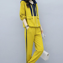 Fall 2019 New Womens sportswear Leisure Trousers Two-piece Suit