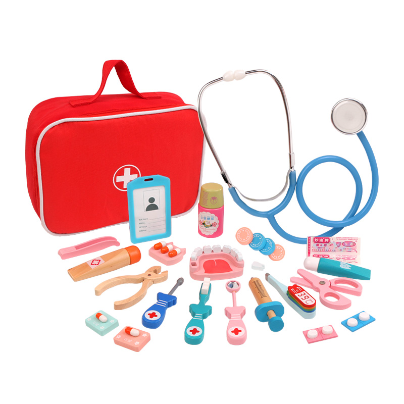 Closeout DealsEducationa-Toys Simulation-Medicine Doctor Pretend Play Wooden Medical Kids Children