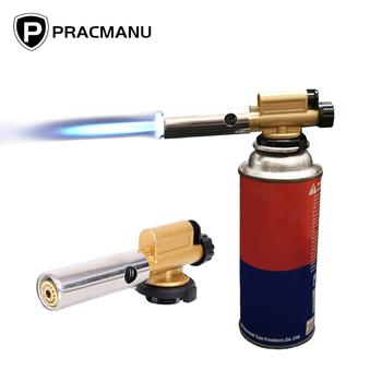 PRACMANU elektroniczny zapłon miedziany płomień Butan palnik gazowy pistolet ekspres latarka na zewnątrz Camping piknik BBQ sprzęt spawalniczy tanie i dobre opinie Palnik spawalniczy 803 Ignition Heating Torch Flamethrower Butan torch