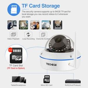 Image 3 - Techege 1080P Wi Fi купольная камера видеонаблюдения домашние купол поддельные CCTV безопасности аудио Беспроводная камера Onvif камера
